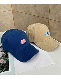 Fashion Blue Letter Embroidered Soft Top Baseball Cap