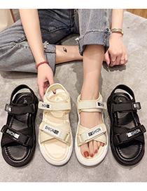 Fashion Beige Letter Cross Platform