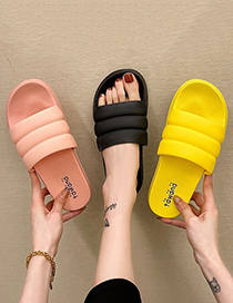 Fashion Orange Candy Color Flat Sandals