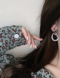 Fashion Silver Color Geometric Knot Earrings
