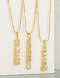 Fashion Wonder English Alphabet Pendant Necklace