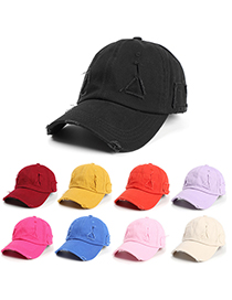 Fashion Turmeric Hole Soft Top Baseball Cap