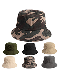 Fashion Army Green Denim Cotton Camouflage Sun Hat