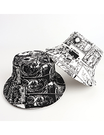 Fashion White Anime One Piece Fisherman Hat