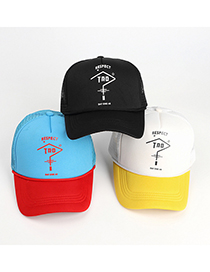 Fashion Yellow And White Question Mark Breathable Baseball Cap