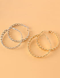 Fashion Silver Color Alloy Chain Earrings