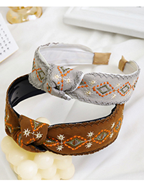 Fashion White Embroidered Knotted Transparent Headband