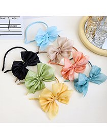 Fashion Black Mesh Side Bow Headband