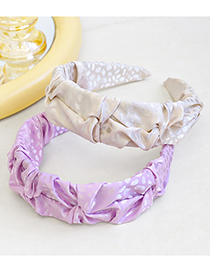 Fashion Yellow Fold Art Headband