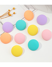 Fashion Purple Candy Color Round Earrings