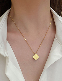 Fashion Gold Color Diamond Fuxi Necklace