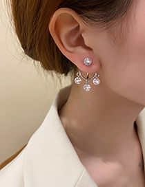 Fashion Silver Color Diamond Tassel Earrings