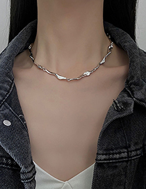 Fashion Necklace-silver Color Geometric Necklace