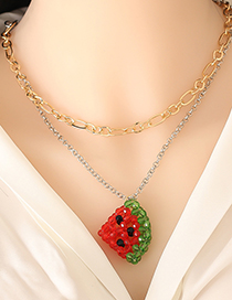 Fashion Necklace Acrylic Fruit Watermelon Necklace