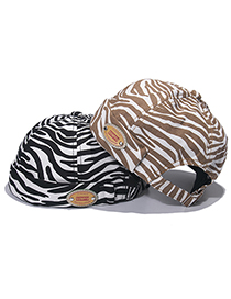 Fashion Brown Zebra Print Landlord Hat