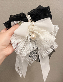 Fashion Black Lace Black And White Two-color Big Bow Hairpin