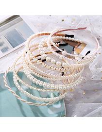 Diadema De Perlas Con Ondas De Perla