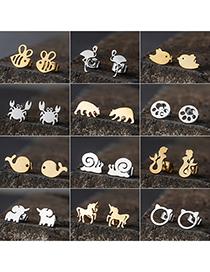 Pendientes De Animales De Dibujos Animados De Acero Inoxidable