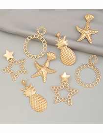 Fashion Five-pointed Star Metal Starfish Shell Fruit Pineapple Earrings