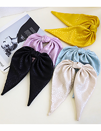 Fashion Black Big Bow Solid Color Hairpin