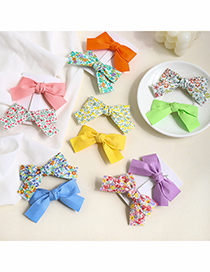 Fashion Yellow Solid Color + Yellow Floral Bow Floral Bow Hairpin