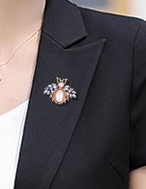 Broche De Insecto De Perlas De Diamantes De Aleación