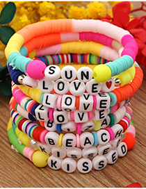 Pulsera Con Letras Love De Arcilla Coloreada