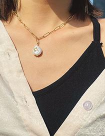 Collar De Perlas De Agua Dulce De Acero Titanio