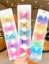 Fashion Lace Star Suit Children's Bow Hairpin