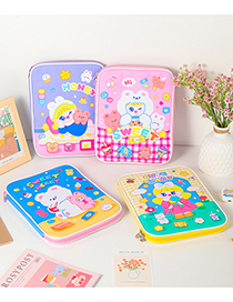 Fashion Purple (suitable For 9.7-11 Inches) Cartoon Flat Double Zipper 11 Inch Protective Bag