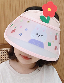 Fashion Puppy Suit Cartoon Print Big Eaves Children's Empty Top Cap And Ice Sleeve Set