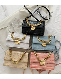 Fashion Light Blue Square Chain Shoulder Messenger Bag