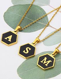 Collar De Acero Inoxidable Hexagonal Acrílico 26 Letras