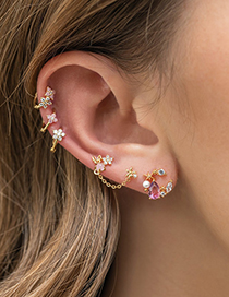 Fashion 18k Gold Star And Moon Earrings