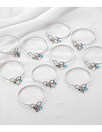 Fashion Mom Eight Word Knotted Love Wings Bracelet