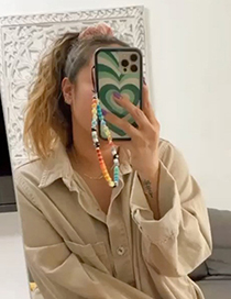 Fashion Color Soft Pottery Smiley Eyes Mobile Phone Lanyard