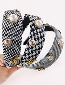 Diadema De Diamantes De Imitación De Perlas De Pata De Gallo