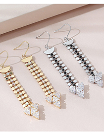 Fashion Platinum Real Gold Plated Stitching Earrings