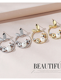 Fashion Platinum Real Gold Plated Pearl Earrings