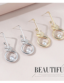 Fashion Platinum Real Gold Plated Hoop Earrings