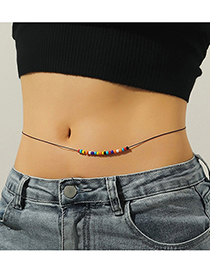 Fashion Color Rice Bead Waist Chain