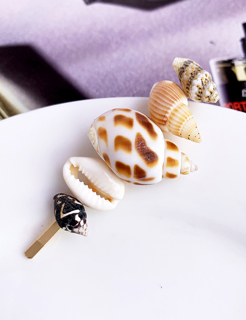 Fashion Gold Alloy Shell Pearl Love Hairpin Earrings Set