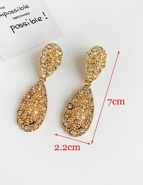 Fashion Gold Alloy Diamond Drop Shape Earrings
