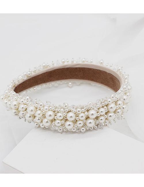 Fashion White Sewing Pearl Headband