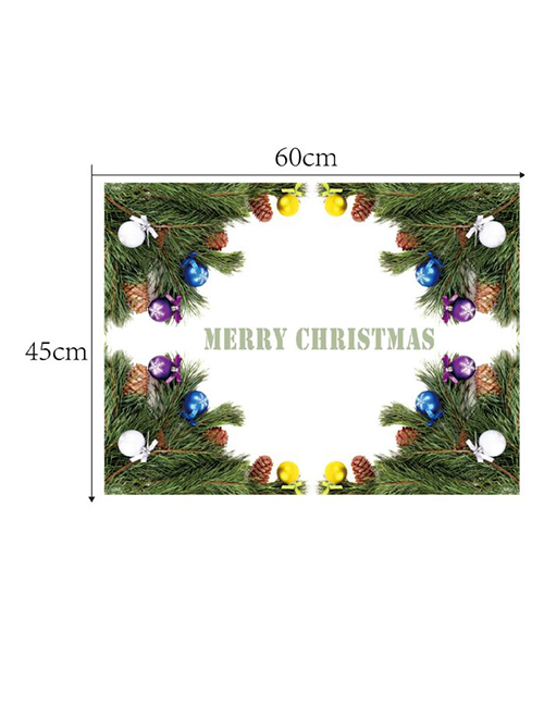 Fashion Color Christmas Leaves: Four Corner Wall Stickers