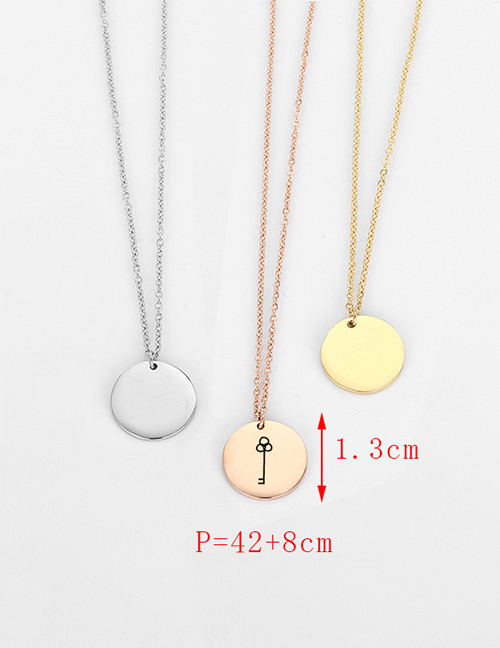 Fashion Steel Color Stainless Steel Single Hole Engraved Music Adjustable Necklace 13mm