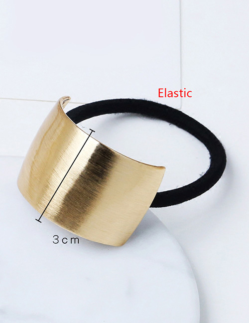 Fashion Silver Color Bend Square Shape Decorated Hair Band