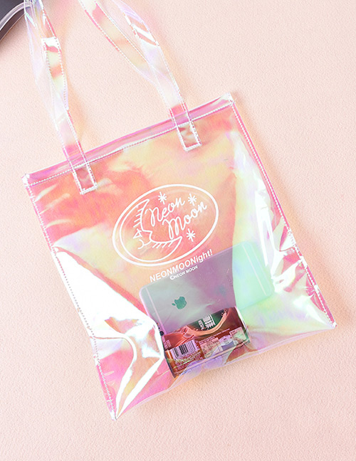 Trendy Multi-color Cartoon Pattern Decorated Square Shape Reflective Shoulder Bag