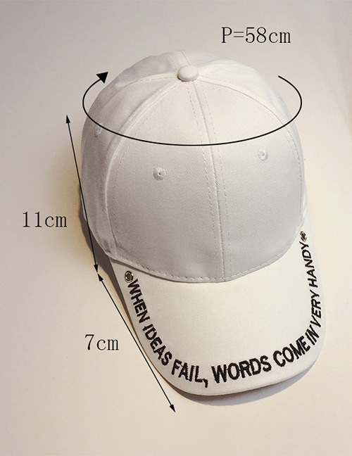 Fashion White Embroidery Letter Decorated Baseball Cap