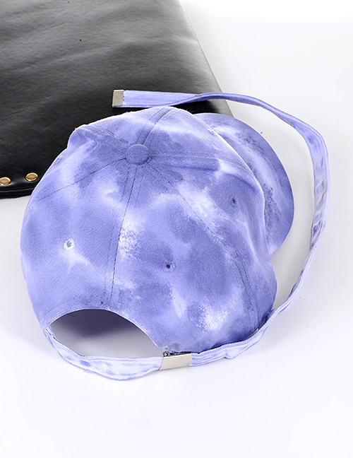 Fashion Purple Pure Color Decorated Gradient Design Baseball Cap